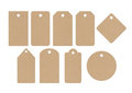 Cardboard labels Royalty Free Stock Images