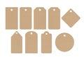 Cardboard labels