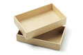 Cardboard packaging box open on white background Stock Images