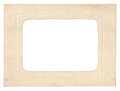 Cardboard photo frame Royalty Free Stock Photo