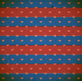 Cardboard print with hearts Royalty Free Stock Images