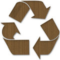 Cardboard Recycle Symbol Royalty Free Stock Photography