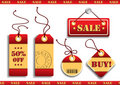Cardboard Sales tags Royalty Free Stock Images