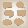 Cardboard speech bubbles six for web or print Stock Photos
