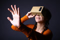 Cardboard virtual reality Royalty Free Stock Photo