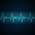 Cardiac frequency illustration of a Stock Photography