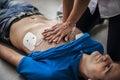 Cardiac massage Royalty Free Stock Photo