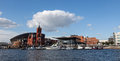 Cardiff bay with the historic and modern landmarks south wales uk Royalty Free Stock Photography