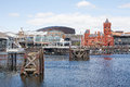 Cardiff bay wales may welsh bae caerdydd is the area created by the barrage in south the capital of Stock Photography