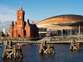 Cardiff Bay in Wales Royalty Free Stock Photo