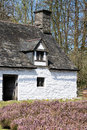 CARDIFF/UK - APRIL 19 : Cilewent Farmhouse at St Fagans National Royalty Free Stock Photo