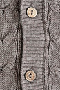 Cardigan button close up of two buttons on a wool Stock Photos