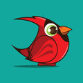 Cardinal bird cartoon Stock Images