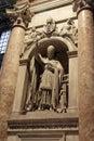 Cardinal Sculpture Saint Peter Basilica - Vatican Stock Image