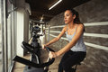 Cardio workout in gym Royalty Free Stock Photo