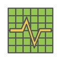 Cardiogram color icon. vector illustration on white background.