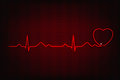 Cardiogram of love and health line forming heart shape Stock Images