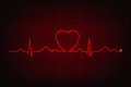 Cardiogram of love and health line forming heart shape Stock Photo