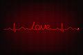 Cardiogram of love line forming word Royalty Free Stock Image