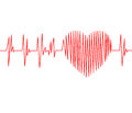 Cardiogram pulse trace and heart Royalty Free Stock Photo