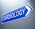 Cardiology concept illustration depicting a sign with a Stock Photography