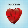 Cardiology design over blue background illustration Royalty Free Stock Image