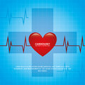 Cardiology design over blue background illustration Stock Image
