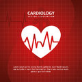 Cardiology design over blue background illustration Royalty Free Stock Photo