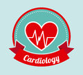Cardiology design over blue background illustration Stock Photography