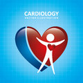 Cardiology design over blue background vector illustration Stock Photography