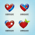 Cardiology design over blue background vector illustration Royalty Free Stock Images