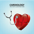 Cardiology design over blue background vector illustration Royalty Free Stock Photography