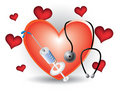 Cardiology heart icon Stock Photo