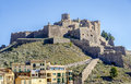 Cardona castle is a famous medieval castle in catalonia now it state run hotel or parador Royalty Free Stock Image