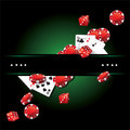 Cards chips casino poker background Stock Photo