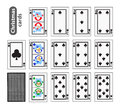 Cards Poker Set Christmas icons. black club suit. Santa claus, girl and elf. Illustration . Use for the site, printing, pape Royalty Free Stock Photo