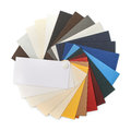 Cardstock paper fan of samples isolated on white Royalty Free Stock Image