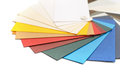 Cardstock paper samples of color Royalty Free Stock Photography