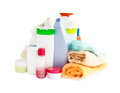 Care and bathroom products Royalty Free Stock Photo