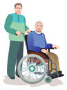 Care of invalids older persons Royalty Free Stock Photo