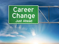 Career change just ahead concept depicting a new choice in job Stock Photos