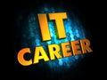 It career concept on digital background golden color text dark blue Stock Photos