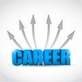 Career destinations concept illustration design over a white background Stock Photo