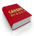 Career dos donts book manual job advice and don ts cover to illustrate a of and instructions to help you improve your position Royalty Free Stock Photos