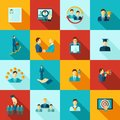 Career Flat Icons Set Royalty Free Stock Photo