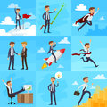 Career Growth Icons Set Royalty Free Stock Photo
