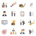 Career Icons Flat Set Royalty Free Stock Photo
