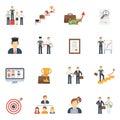 Career Icons Flat Set Royalty Free Stock Photo