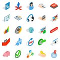 Career icons set, isometric style Royalty Free Stock Photo