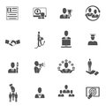 Career Icons Set Royalty Free Stock Photo